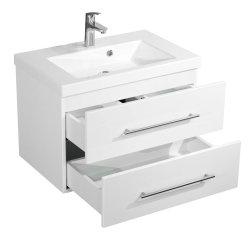 Badmöbel Waschtisch LAUREL 70cm | inklusive Waschbecken | weiß-hochglanz