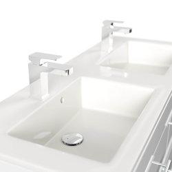 Badmöbel Doppelwaschplatz Argos 120cm weiß hochglanz