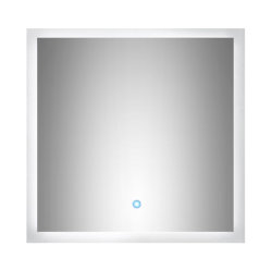 Badezimmer LED Spiegel 60x60 cm mit Touch Bedienung
