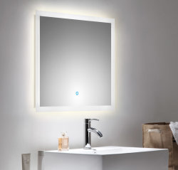 Badezimmer LED Spiegel 70x60 cm mit Touch Bedienung
