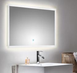 Badezimmer LED Spiegel 100x60 cm mit Touch Bedienung