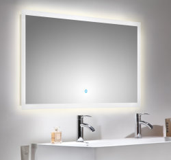 Badezimmer LED Spiegel 120x65 cm mit Touch Bedienung
