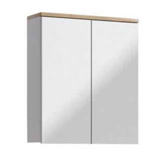 Badezimmer Spiegelschrank Kalli 2-türig 60cm, weiss wotan-eiche