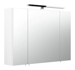 Badezimmer Spiegelschrank 90cm 3-türig | mit LED-Beleuchtung weiß