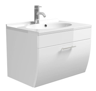 Waschplatz Salona 70cm mit Klappe   inkl. Waschbecken   weiß