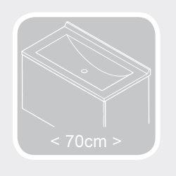 Waschplatz Salona 70cm mit Klappe | inkl. Waschbecken | anthrazit-walnuss