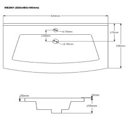 Badset LUNA 4-teilig | 80cm Waschplatz | sonoma-eiche