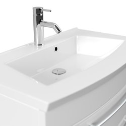 Badmöbel LUNA | 80cm Waschplatz mit Waschbecken | anthrazit-seidenmatt