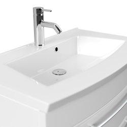 Badmöbel LUNA | 80cm Waschplatz mit Waschbecken | beton-grau